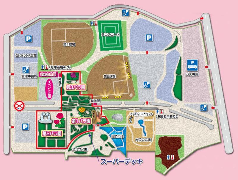 伊奈町バラ園マップ